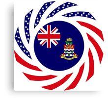Cayman Islands American Multinational Patriot Flag Series Canvas Print