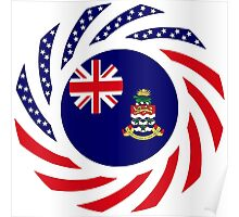 Cayman Islands American Multinational Patriot Flag Series Poster