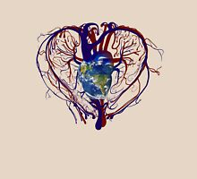 "Anatomical Kind ""Earth Heart"" Medical Circulatory Get Well Kindness Womens Fitted T-Shirt"