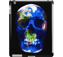 """LuxeMyth"" Human-Caused Climate Change Earth Skull  iPad Case/Skin"