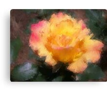 Oil Pastel Rose Canvas Print