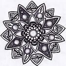 Tangle: Flower by Leoni Mullett