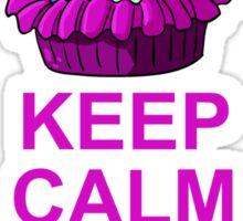 Keep Calm and Eat Me: Cupcake Sticker