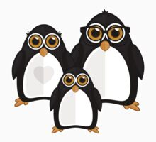 Penguin Family Baby Tee
