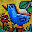 LITTLE LOVEBIRD GOES WALKING by ART PRINTS ONLINE         by artist SARA  CATENA