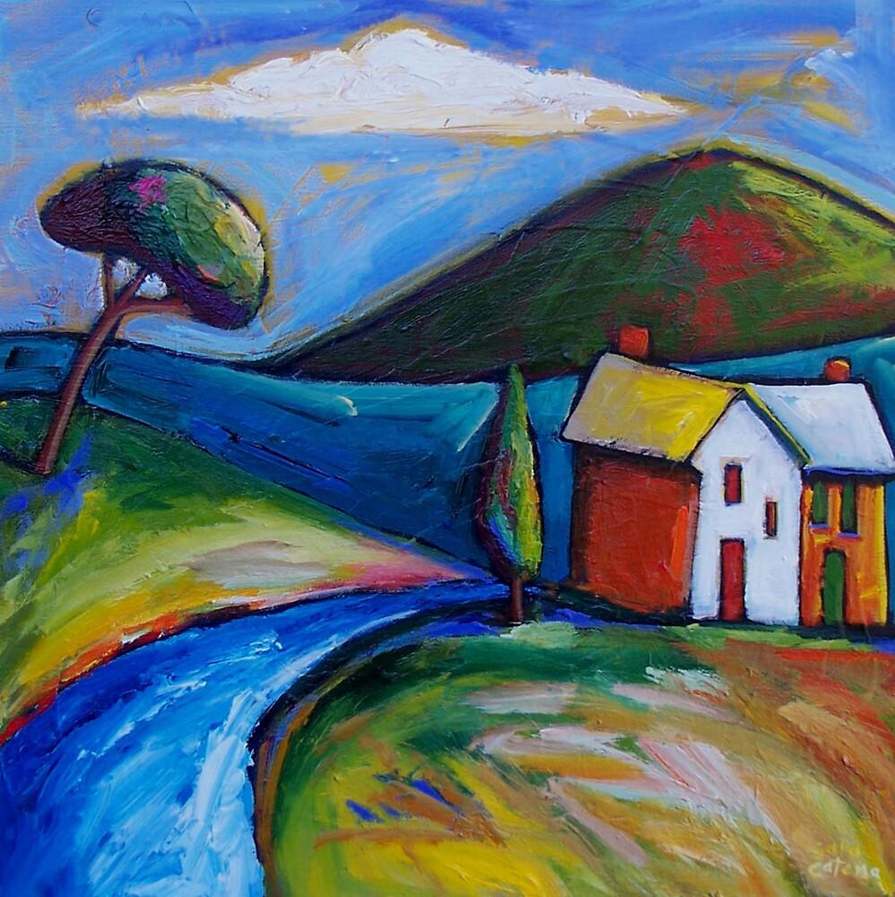 ROAD  TO  MATAKANA - NEW  ZEALAND by ART PRINTS ONLINE         by artist SARA  CATENA