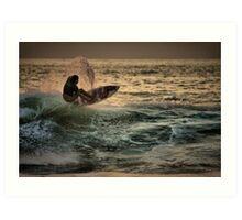 Evening Surfing Art Print