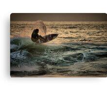Evening Surfing Canvas Print