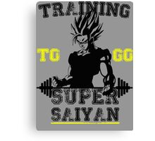 TRAINING TO GO SUPER SAIYAN! Canvas Print