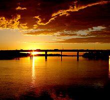 Maroochy River Bridge Sunrise, Sunshine Coast by Les Pullen