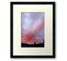 Red Rainbow Sky Framed Print