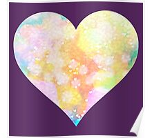 Painted Love Heart  Poster
