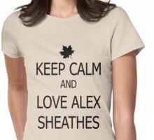 Keep Calm & Love Alex Sheathes Womens Fitted T-Shirt