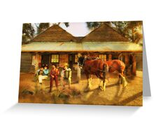 And The Band Played Waltzing Matilda......... Greeting Card