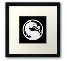 White Dragon Framed Print