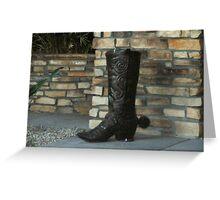 Cowboy Boot Greeting Card