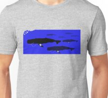 Group of Whales with Popular MP3 players Unisex T-Shirt