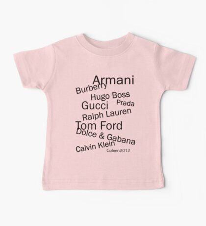 SOLD - WORLD FAMOUS FASHION DESIGNERS  Baby Tee