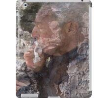 Profile of an old man in trunk iPad Case/Skin