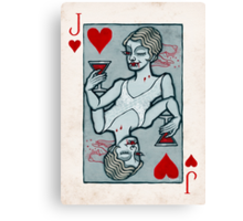 Lucy Westenra, Vampire Jack of Hearts Canvas Print