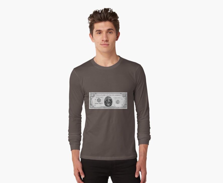 Satanic 100 dollar bill by DaHeathen