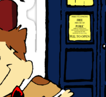 Doctor Who Peanuts Sticker