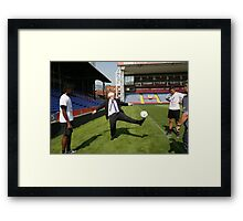 Boris Johnson visits Crystal Palace Football Club Foundation Framed Print