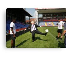 Boris Johnson visits Crystal Palace Football Club Foundation Canvas Print