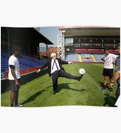 Boris Johnson visits Crystal Palace Football Club Foundation Poster