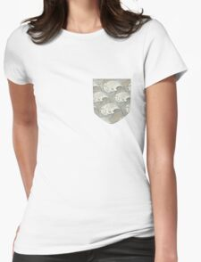 small pocket 2 Womens Fitted T-Shirt