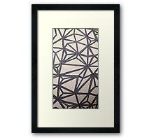 BLANK- OG pattern Framed Print