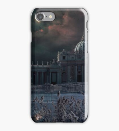 Apocalyptic scene to Saint Peter Square in Rome iPhone Case/Skin