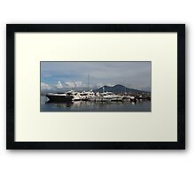Vesuvius Volcano and the Boats in Naples, Italy Harbor Framed Print