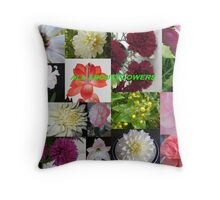 All About Flowers Throw Pillow