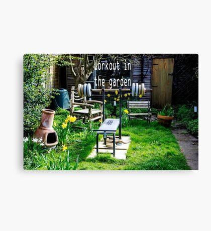 Garden workout Canvas Print