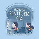 Travel via Platform 9 3/4 by Queenmob