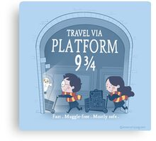 Travel via Platform 9 3/4 Canvas Print