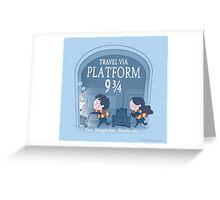Travel via Platform 9 3/4 Greeting Card