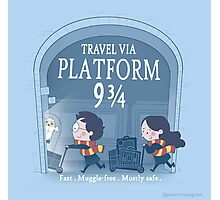 Travel via Platform 9 3/4 Photographic Print