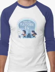 Travel via Platform 9 3/4 Men's Baseball ¾ T-Shirt