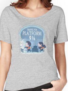 Travel via Platform 9 3/4 Women's Relaxed Fit T-Shirt