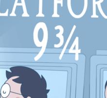Travel via Platform 9 3/4 Sticker
