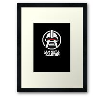 Cylon — I am not a toaster, Retro Framed Print