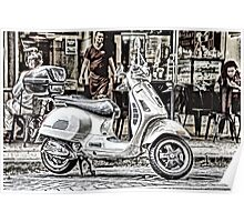 Scooter Street Life Poster