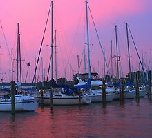 Sailboats and Sunsets 1 by Rob Diffenderfer