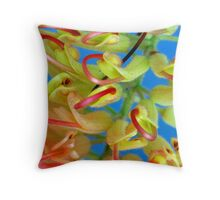 Two-tone Grevillea Throw Pillow