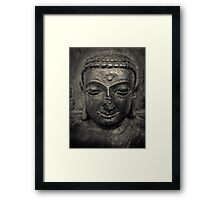 Ancient Buddha Statue Framed Print
