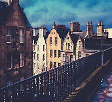 Old Town Edinburgh Buildings by mrdoomits