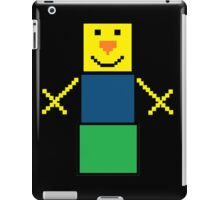 Pixel the snowman noob edition iPad Case/Skin