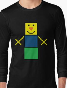Pixel the snowman noob edition Long Sleeve T-Shirt
